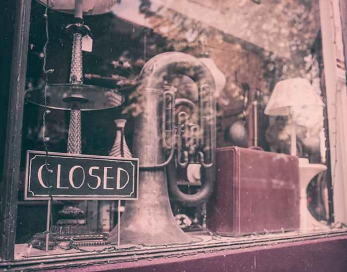 vintage music closed shop